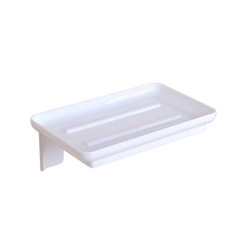 Simple Self-Adhesive Wall-Mounted Soap Dish for Modern Bathrooms