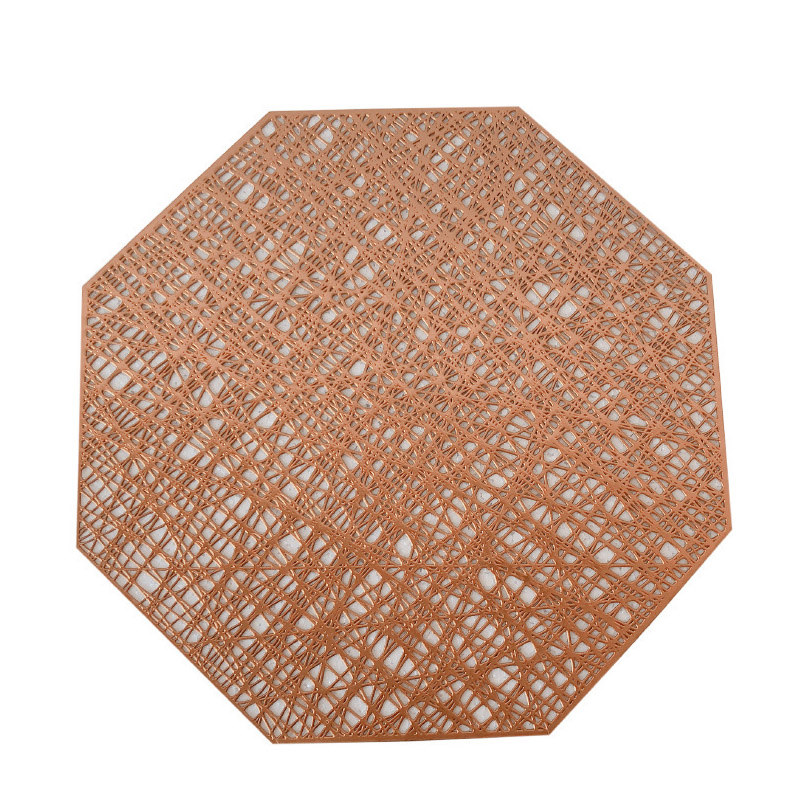 Octagonal Metallic String Placemats for Special Dinners