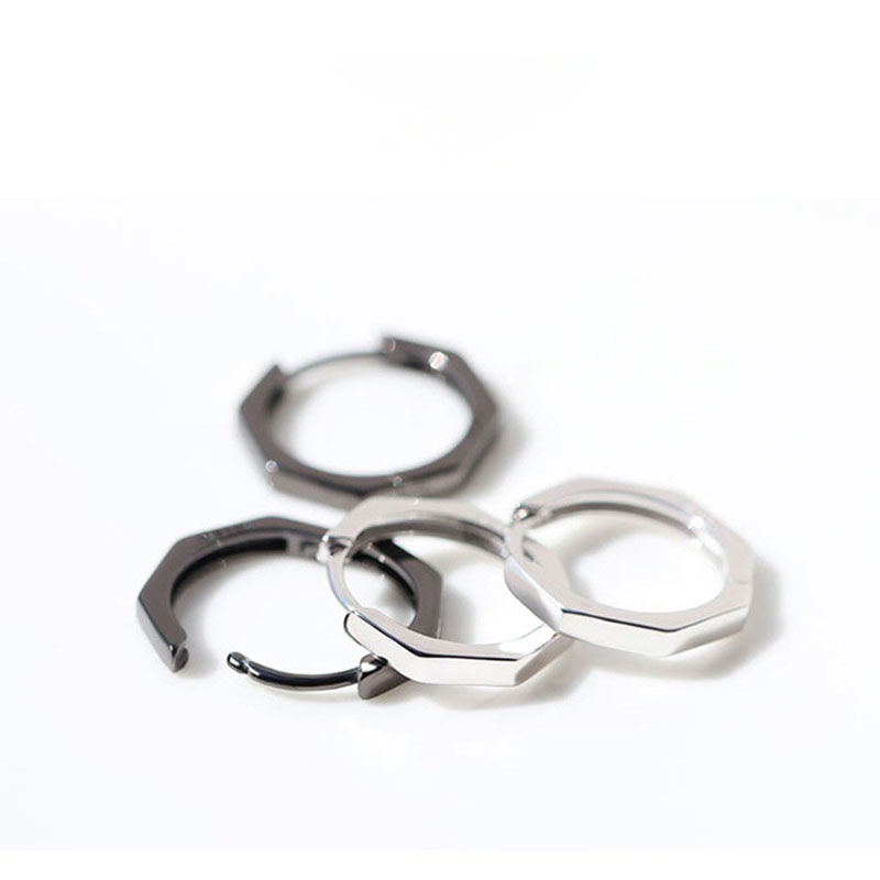 Edgy Octagon Hoop-Like Earrings for Classy Casual Outfits
