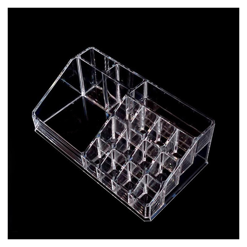 Clear Plastic Cosmetics Organizer for Holding Lipsticks and Powders
