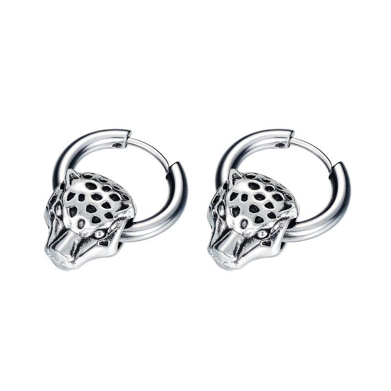 Titanium Steel Jaguar Earrings for Men and Women