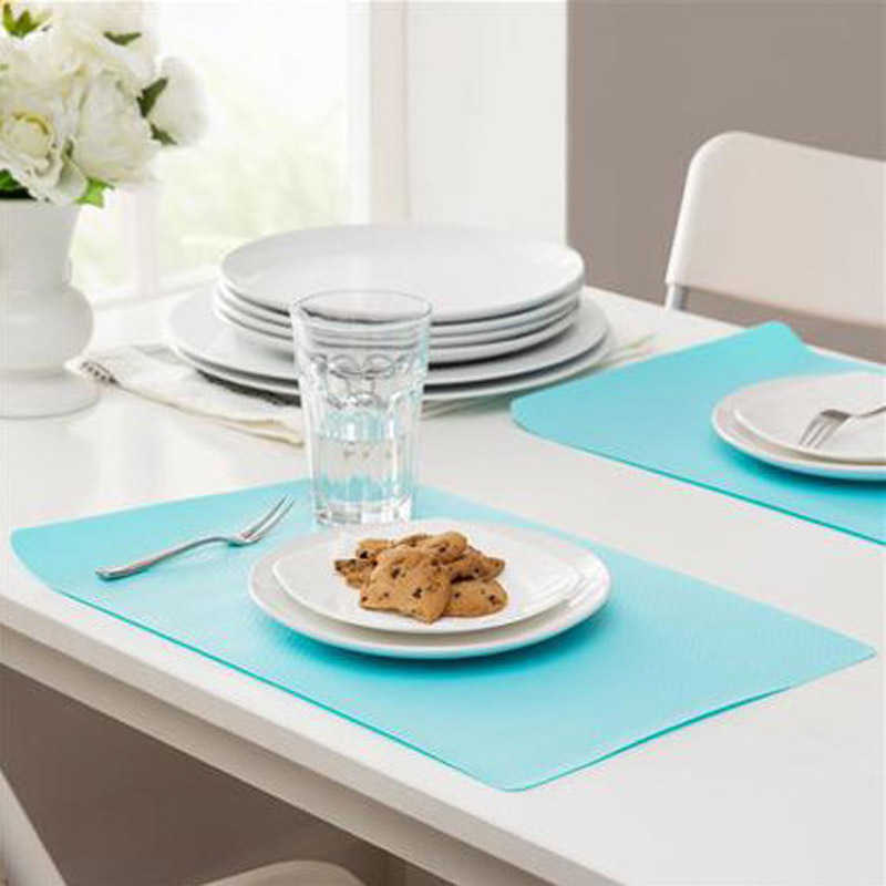 Pastel Colored Oil-Proof and Washable Placemat for Food and Kitchen