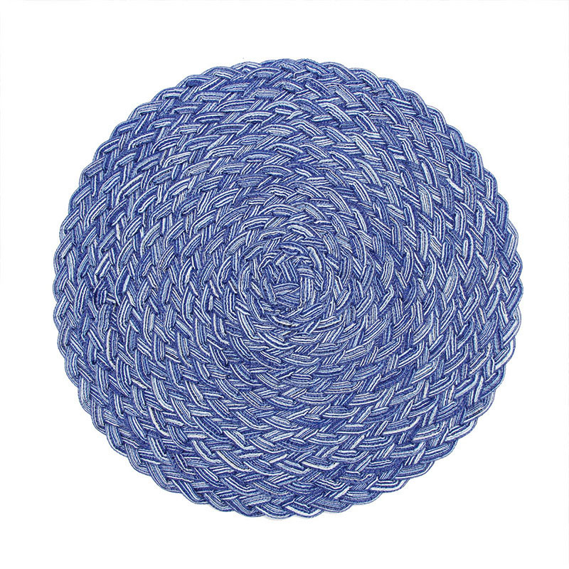 Woven Ramie Round Placemats for Fancy Dinners