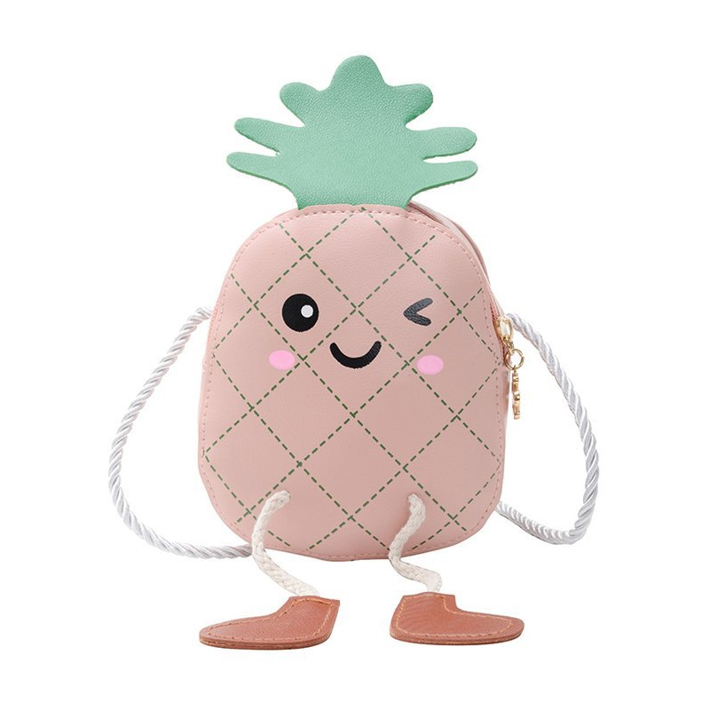Adorable Pineapple Designed Coin Purse for Kids