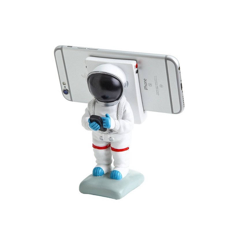 Creative Cute Resin Astronaut and Bear Mobile Accessory for Smartphones