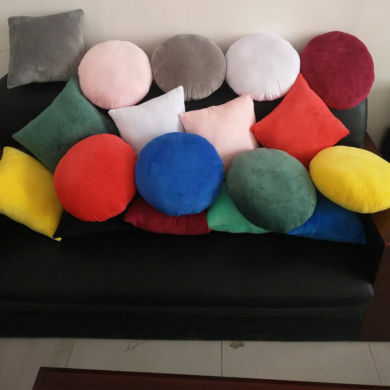 Circle and Square Plush Pillow for Car Seats
