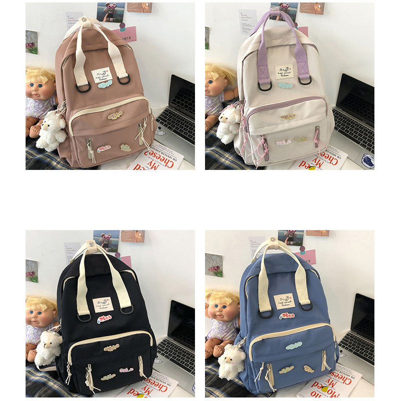 Adeline Trendy Canvas Backpack for Teens