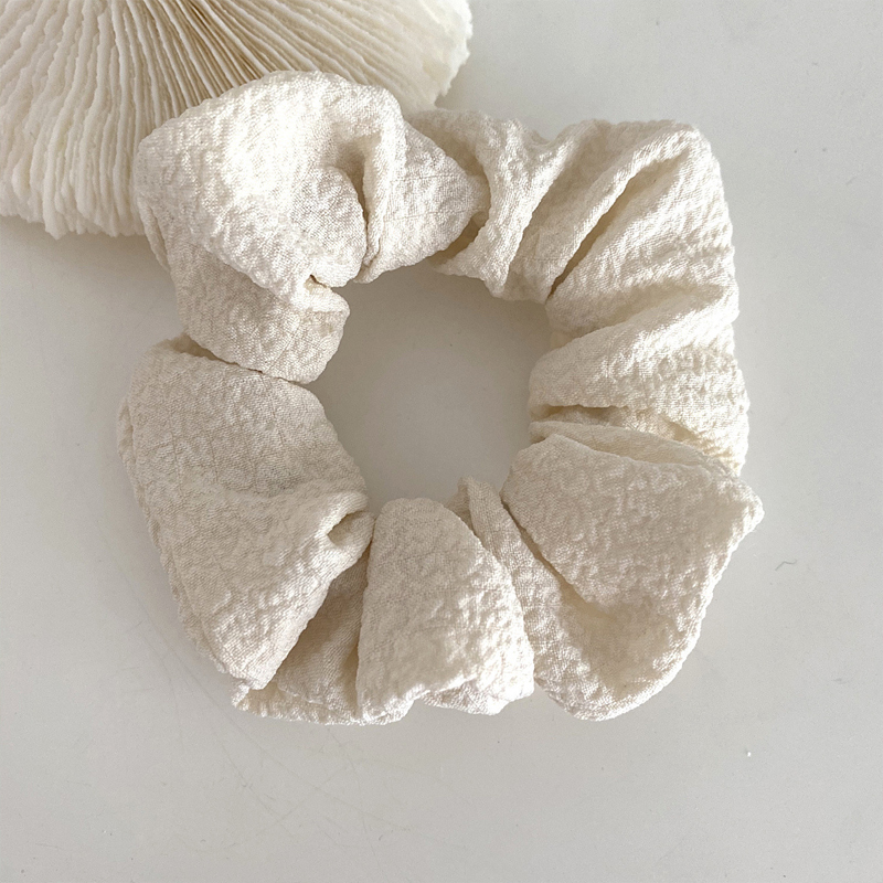 Wrinkled Fabric Scrunchie for Simple Hairstyles