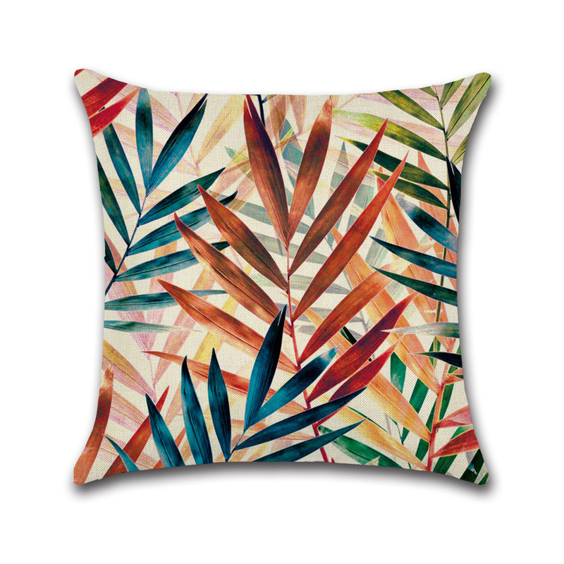 Festive Tropical Paradise Pillowcase for Outdoor Lounge Chairs