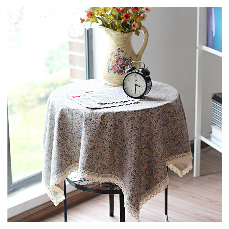 Aesthetic Floral Tablecloth for Coffee Bar