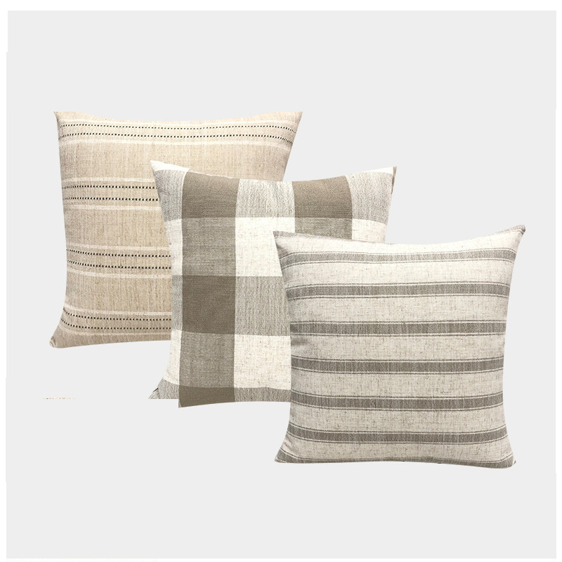 Striped and Plaid throw Pillowcases for Stylish Living Rooms