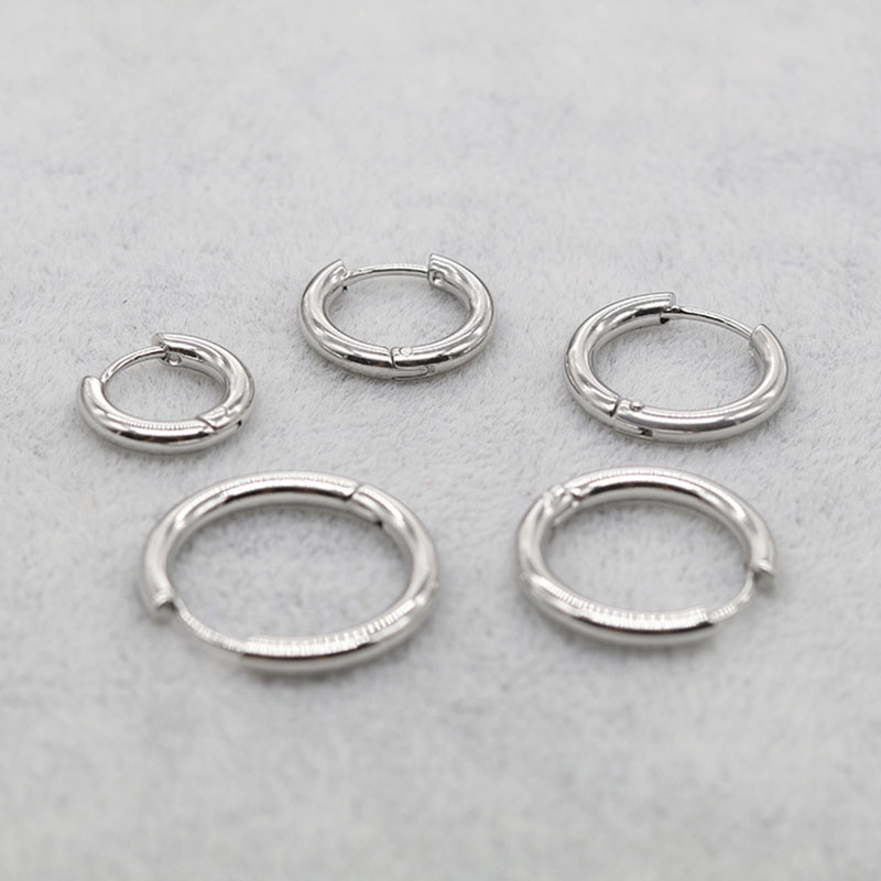 Hypoallergenic Stainless Steel Hoop Earrings for Daily Use