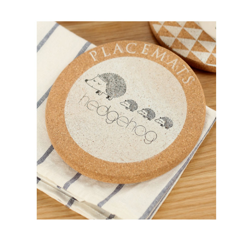 Charming Animals Cork Coasters for Avoiding Water Stains on Furniture