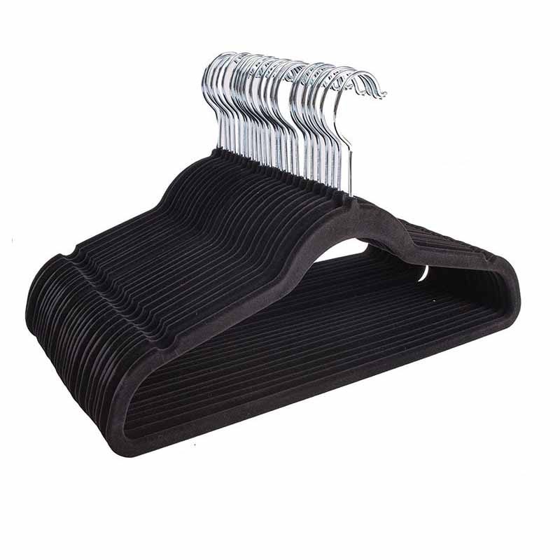 Bendable Plastic Hanger with Clip for Pants and Slacks