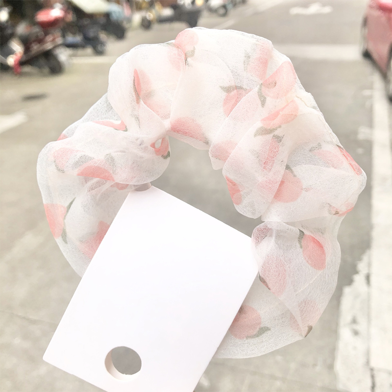 Sheer Printed Summer Scrunchies for Daily Use