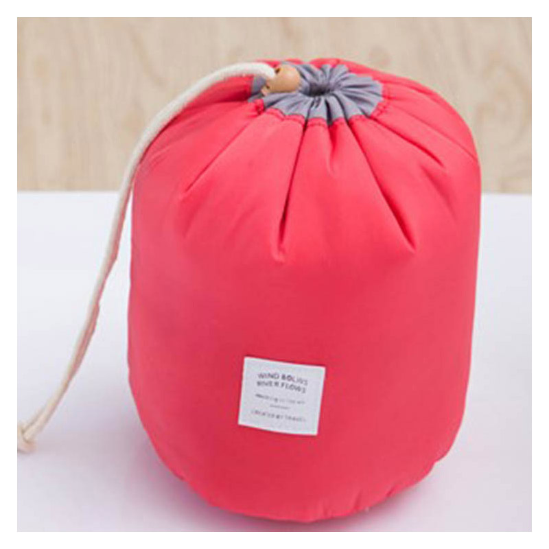 Wide Opening Drawstring Bag for Cosmetic Bottles