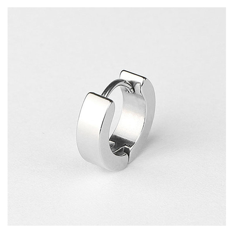 Titanium Steel Hoop Earrings for Boys