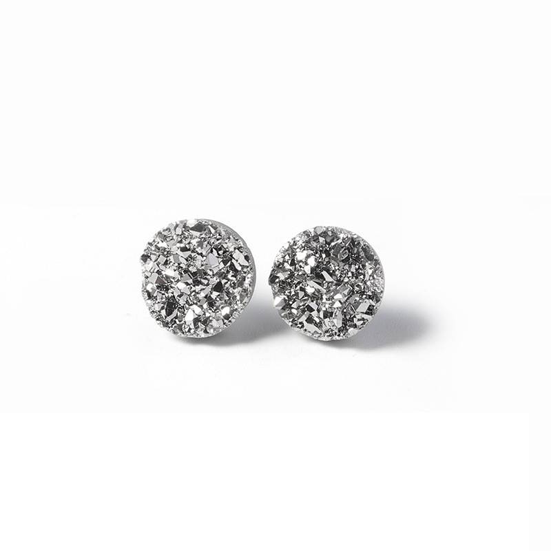 Trendy Crystal Stud Earrings for Office