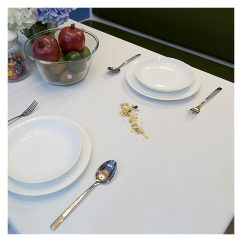 White Cotton Tablecloth for Western Restaurant