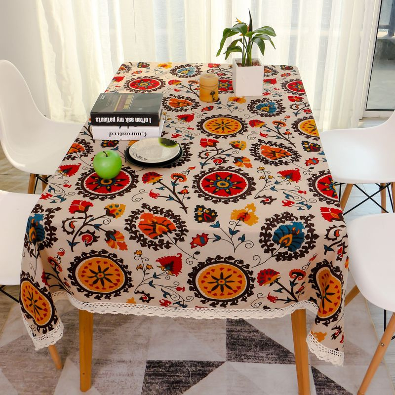 Artistic Tribal Print Tablecloth for Dinner Table