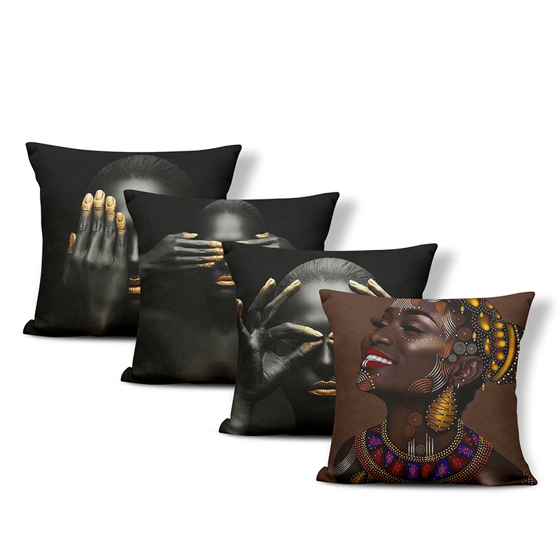 Stunning Woman of Color Print Pillowcase for Pillows