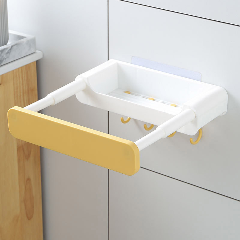 Wall Bolted Retractable Hanger for Drying Plates And Wash Bins