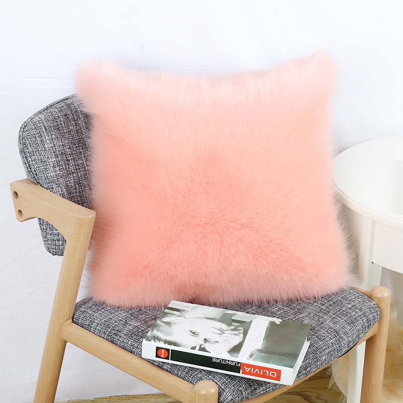 Skin-Friendly Plush Pillow and Pillowcase for Living Room