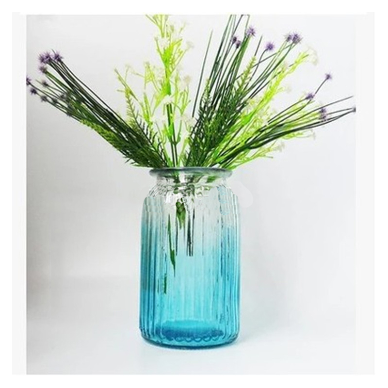 Exquisite Vertical Pattern Glass Vase for Peonies