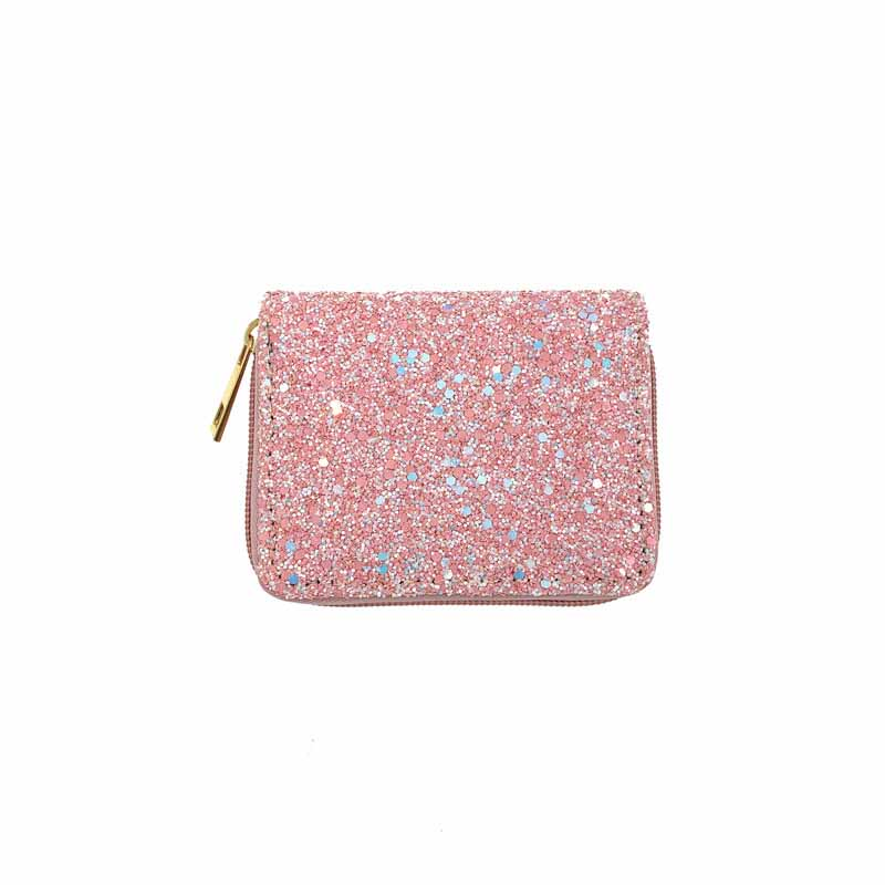 Glitzy Sequin Zippered Wallet for Ladies