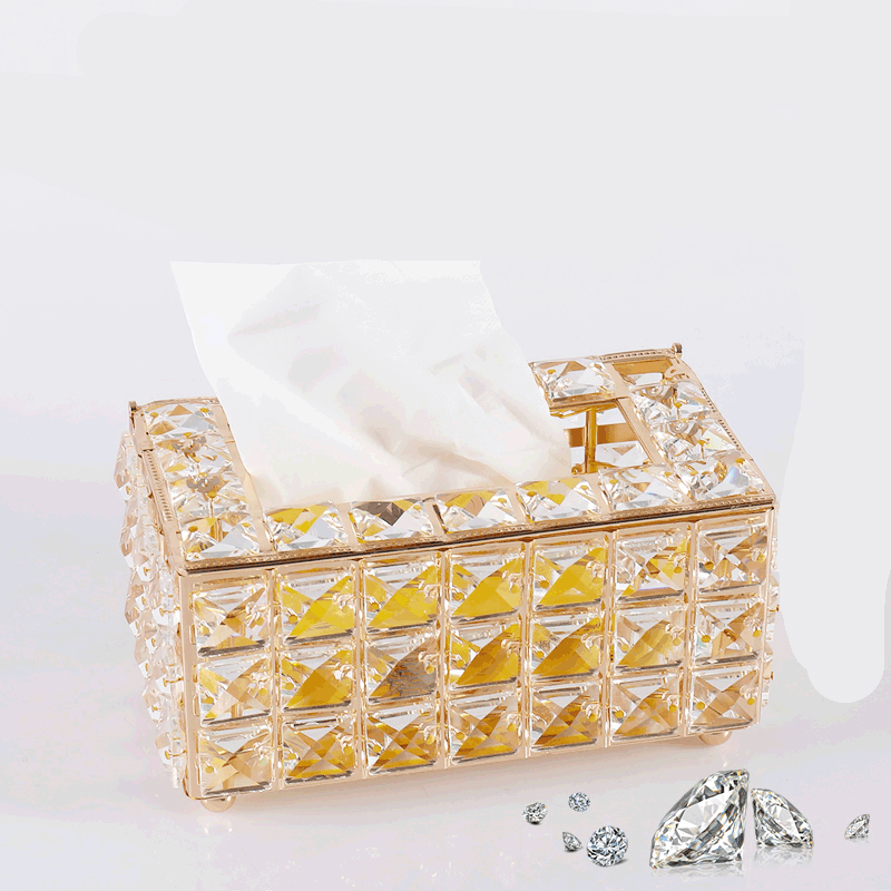 Fancy Crystals on Tissue Box for Living Room