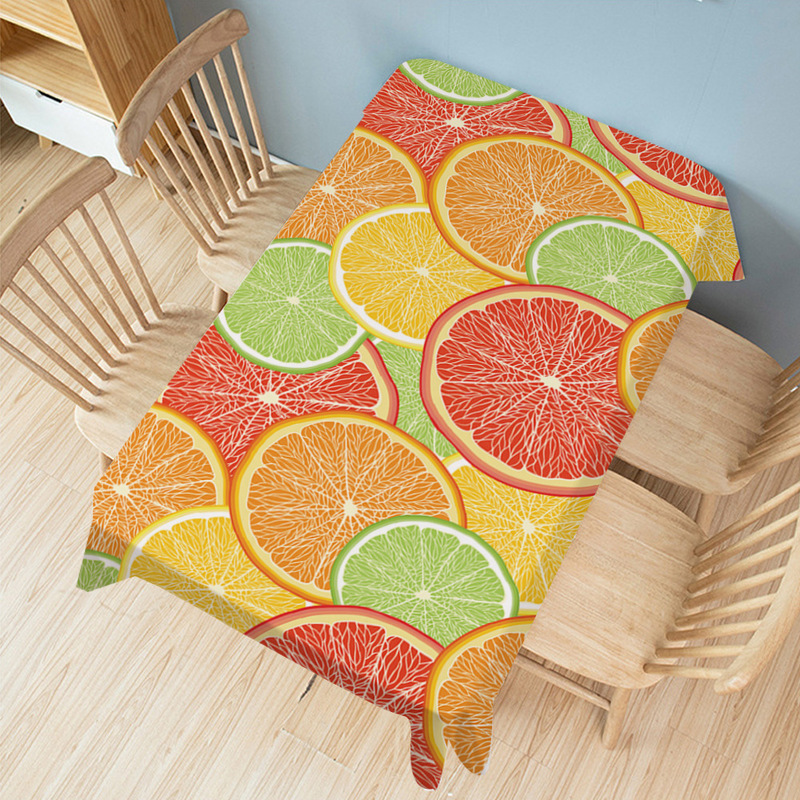 Refreshing Fruits Tablecloth for Summer