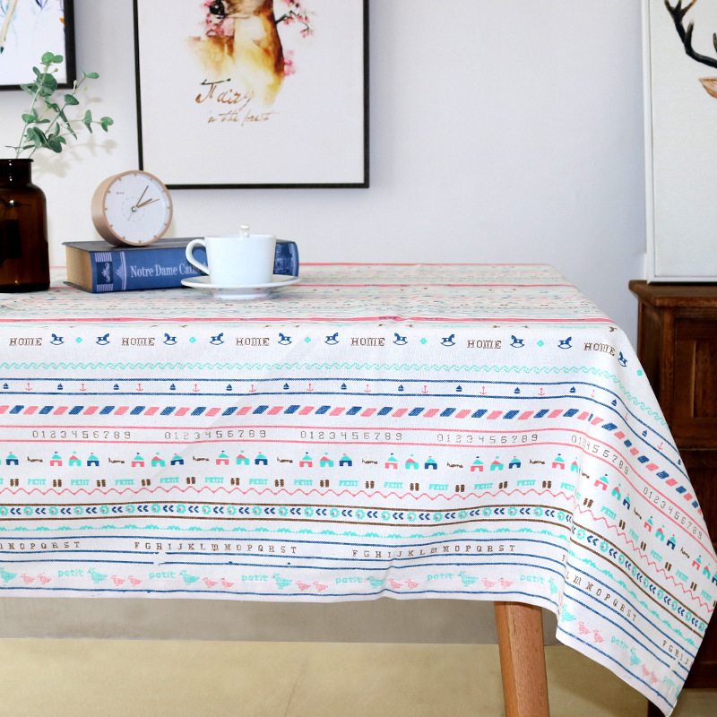 Artistic Stripes Tablecloth for Coffee Table