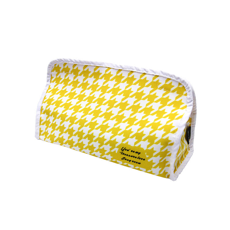 Multicolored Houndstooth Pattern Fabric Tissue Holder for Cars