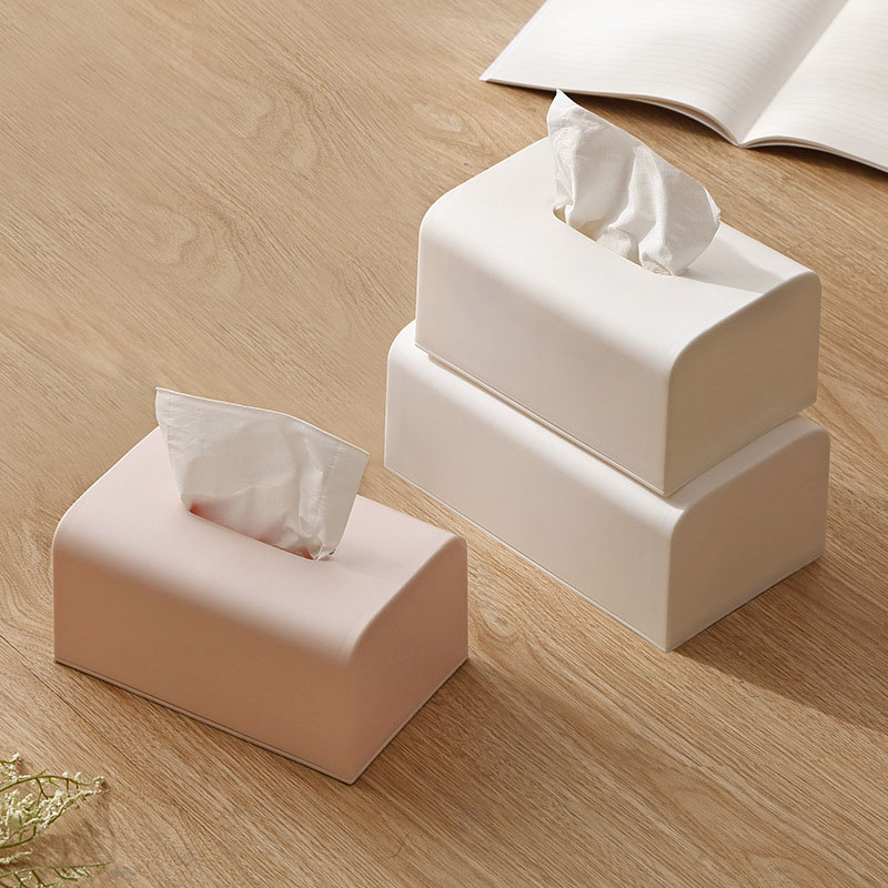 Seamless Solid Color Tissue Box for Dressing Tables