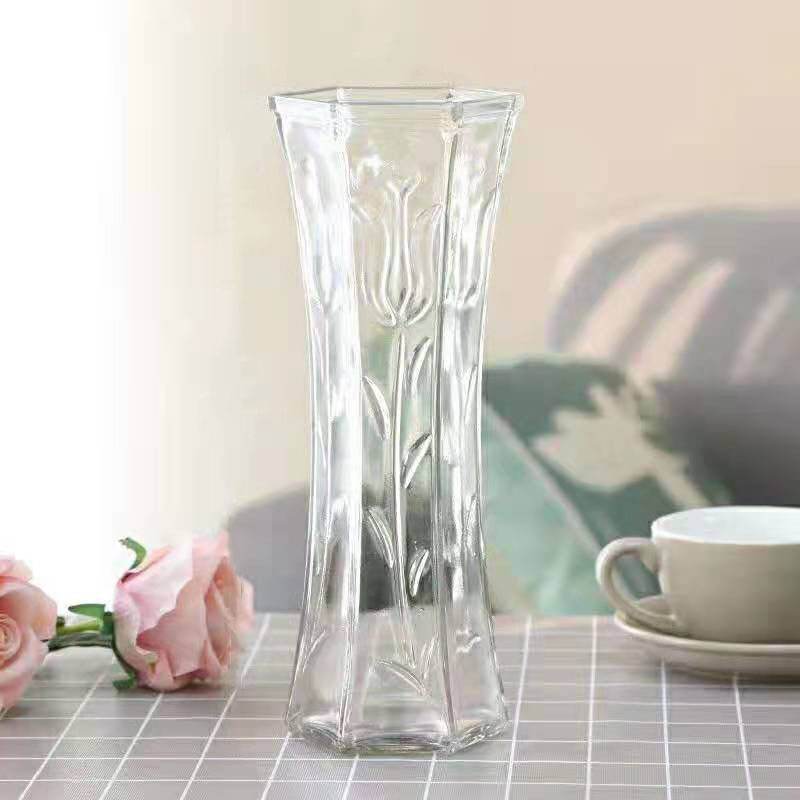 Tall Glass Vase for Lilies