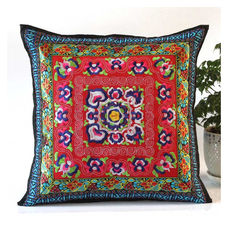 Colorful Ethnic Style Pillowcase for Office Pillows