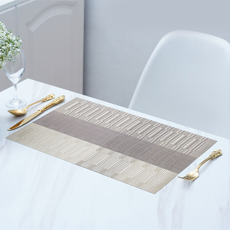 Sophisticated Woven Vinyl Placemats for Elegant Kitchens