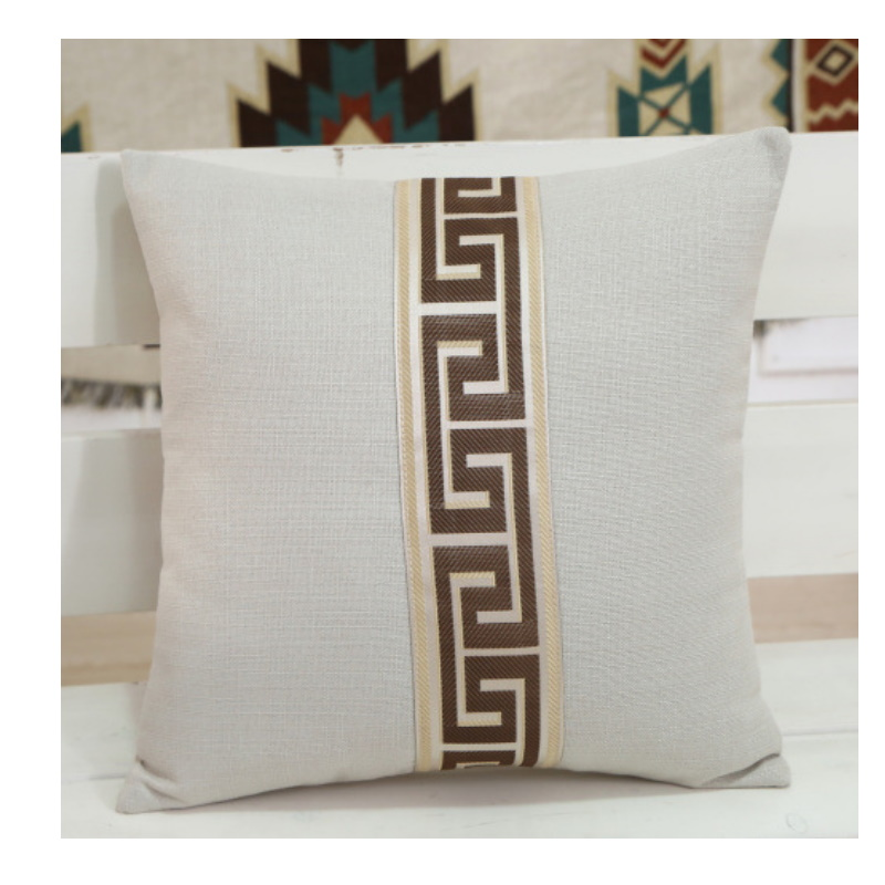 Greek Style Print Pillowcase for Industrial Style Living Room