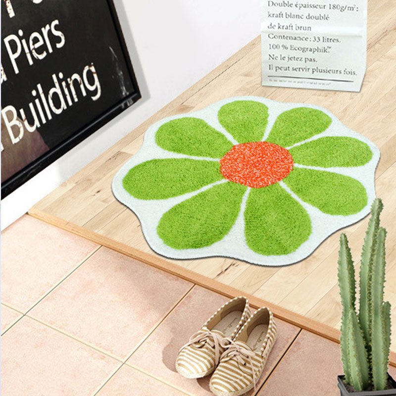 Absorbent Eight-Petal Flower Mat for Lessening Accidents