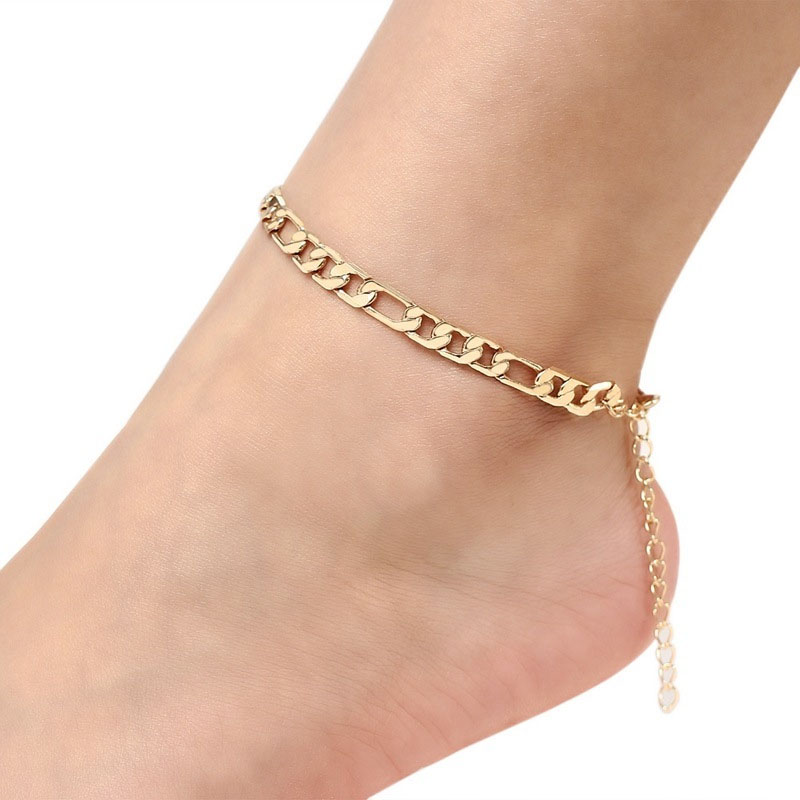 Subtle Spacing Figaro Chain Necklace and Anklet Collection for Mod-Style Wear