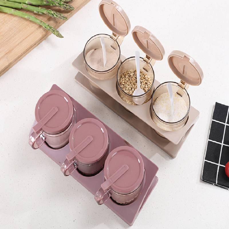 Cute Pink Seasoning Bottle for Condiments Storage