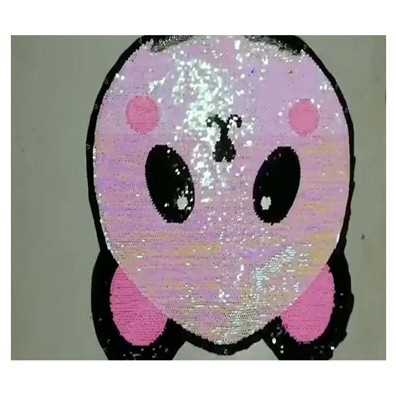 Shiny Sequin Panda Patch for Decorating Clothes