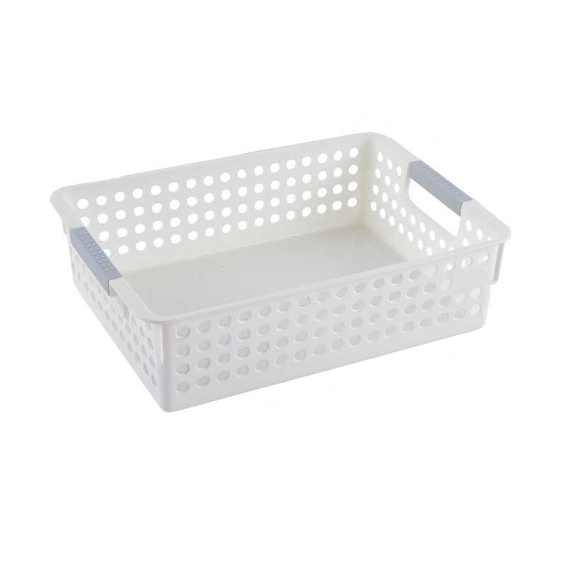 Simple Hollow Round Holes Storage Baskets for Organizing Pantry