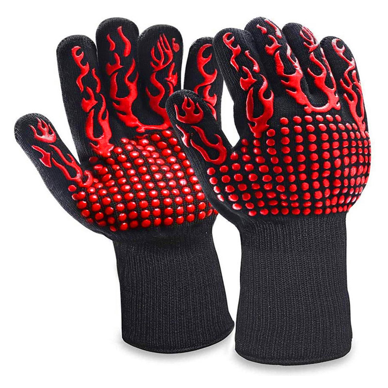 Fireproof Silicone Gloves for Cooking and Baking