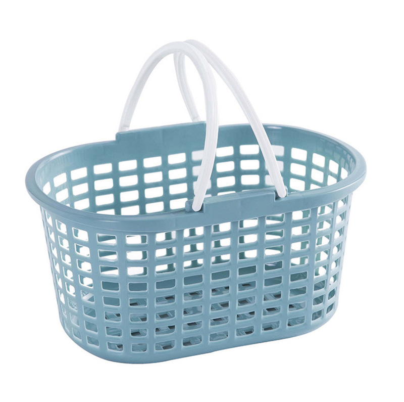Oval Polypropylene Basket with Handle for Toiletries