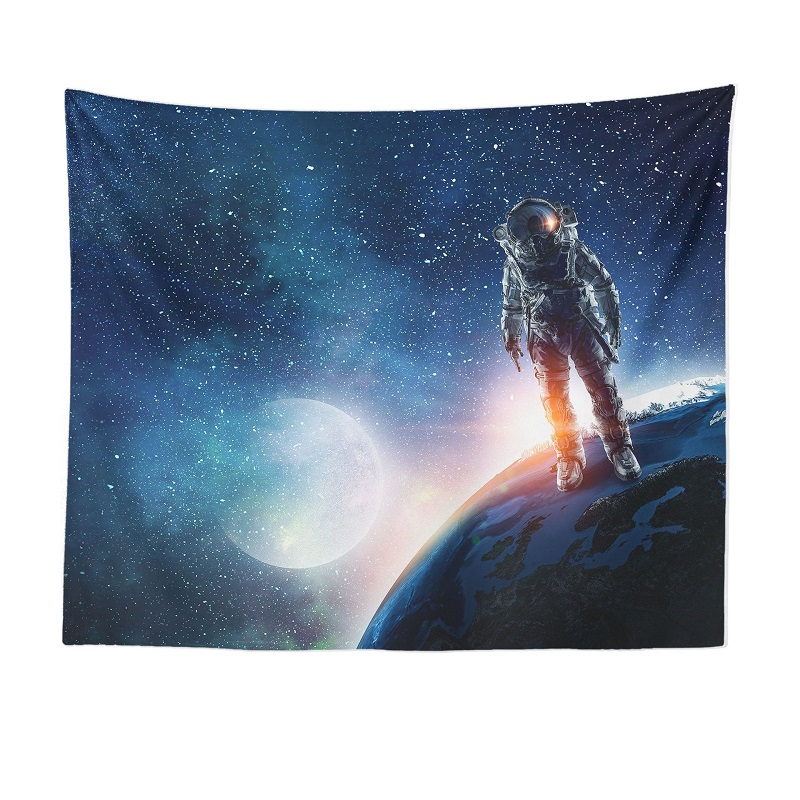 Adorable Digital Printed Astronaut Tapestry for Living Room