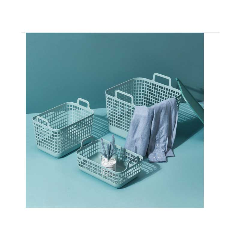 Solid Color Basket with Holder for Household Clothes