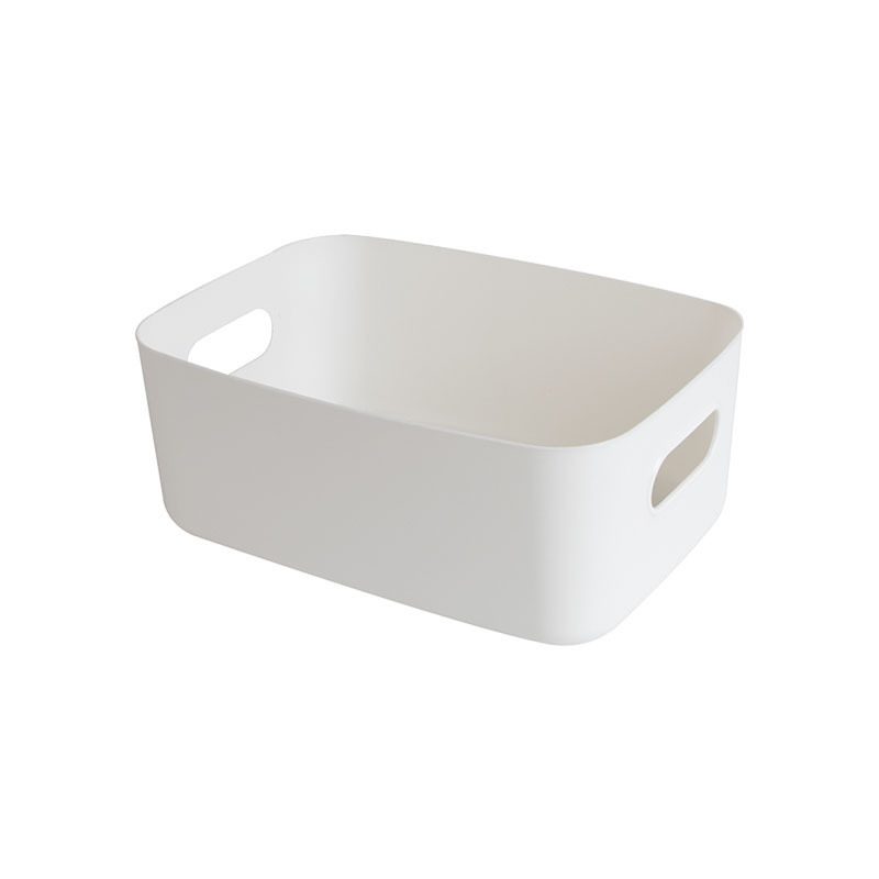 Multifunctional Polypropylene Storage Basket with Hand Slot for Clothes