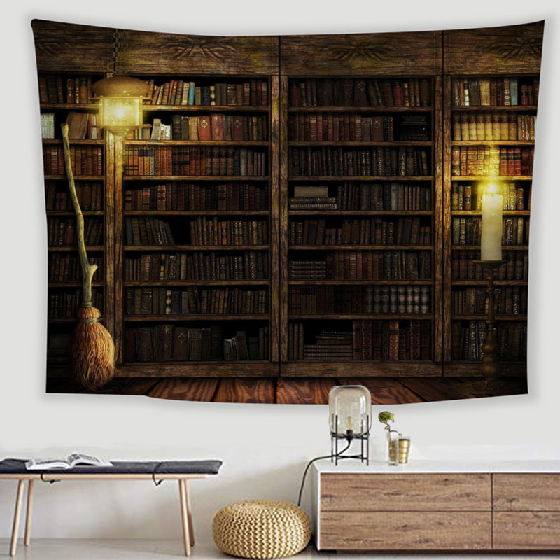 Old Library Tapestry for Wall