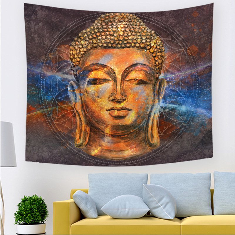 Artistic Buddha Series Tapestry for Living Room